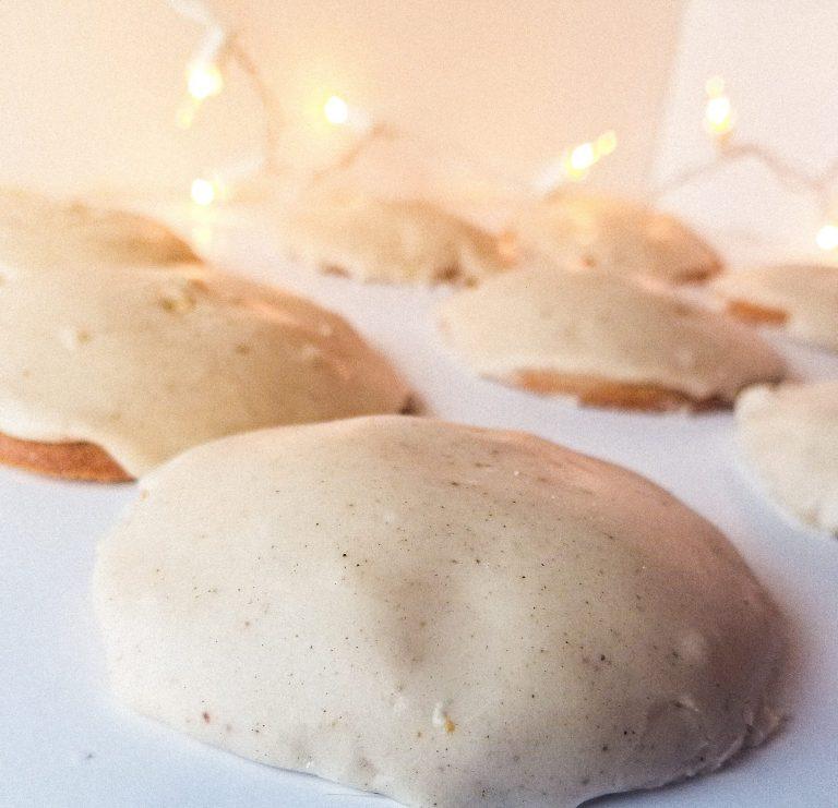 Eggnog Cookies with Eggnog Frosting