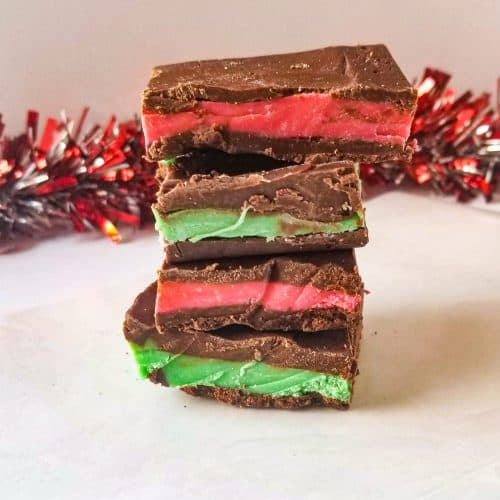 homemade andes mints stacked