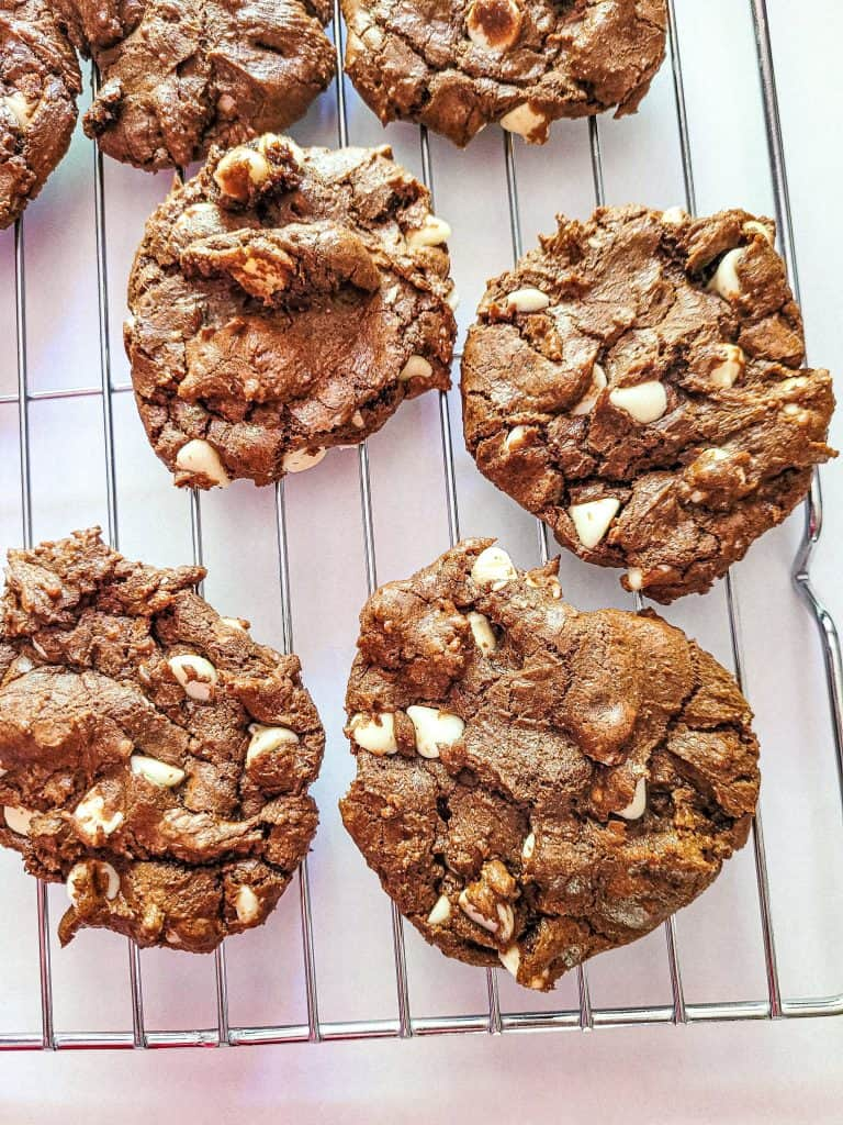 Inside Out Cookies-Chocolate Cookies with White Chips