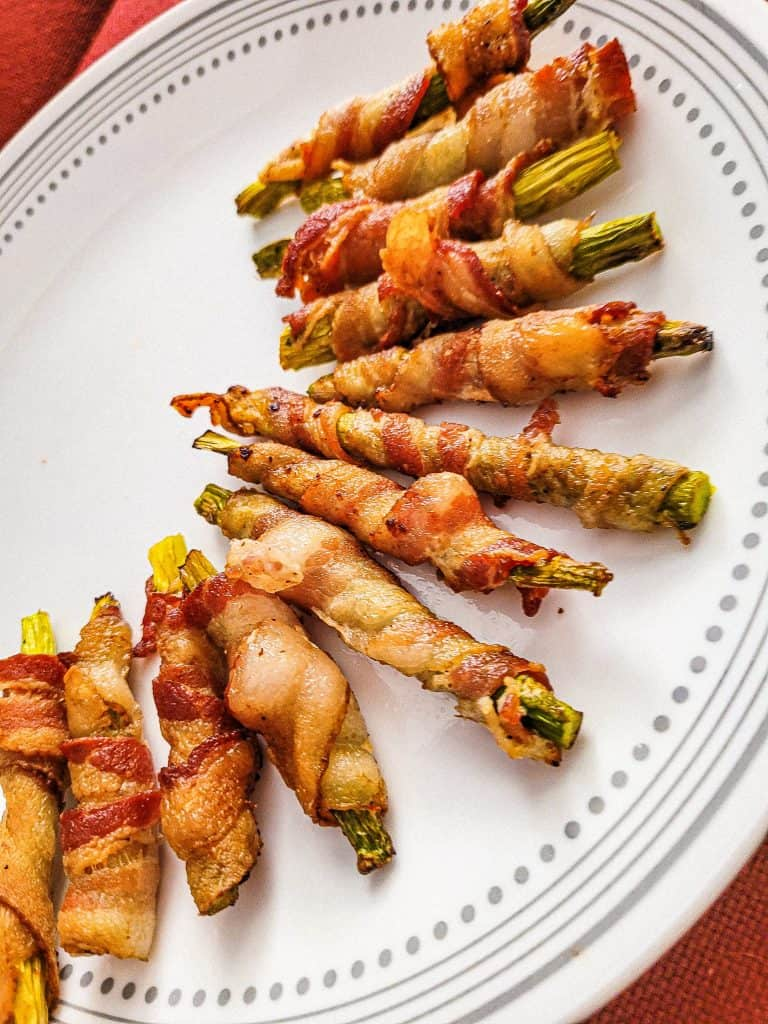 Bacon Wrapped Asparagus in Air Fryer!