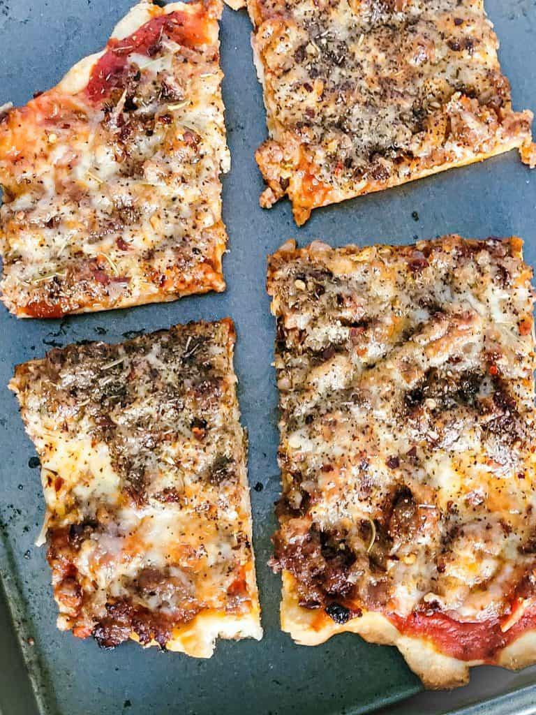 Sausage Pizza-School Pizza Recipe