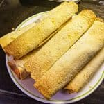 chicken flautas on a plate