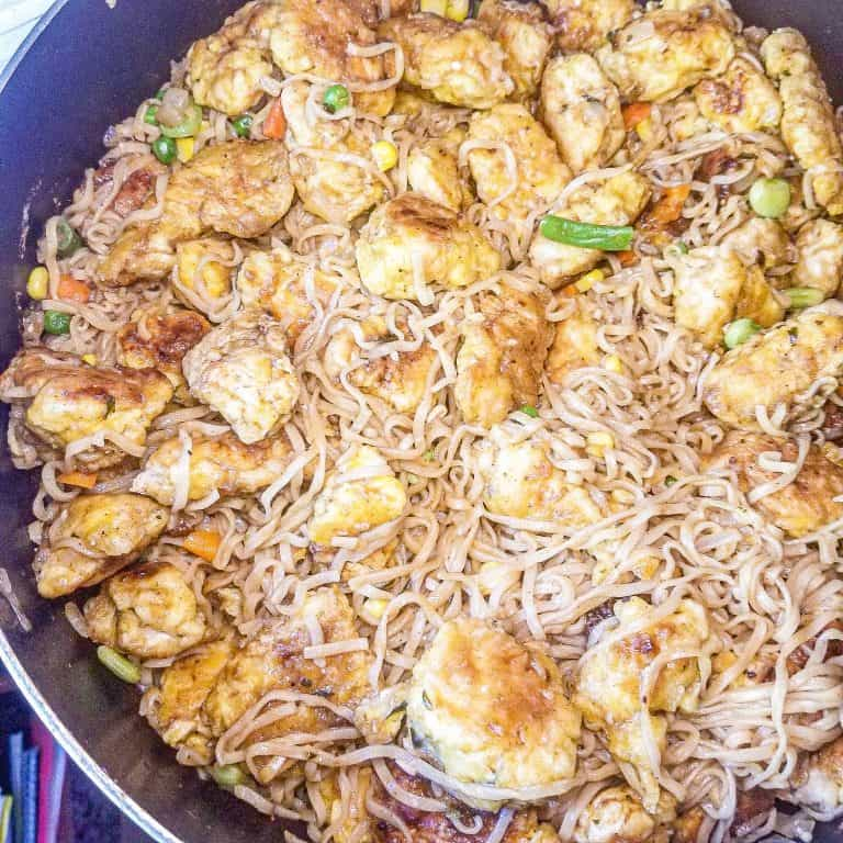 Chinese Chicken and Noodles