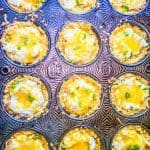 jalapeno popper cups in a muffin tin