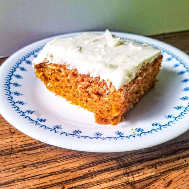 Carrot Cake with Coconut Flakes