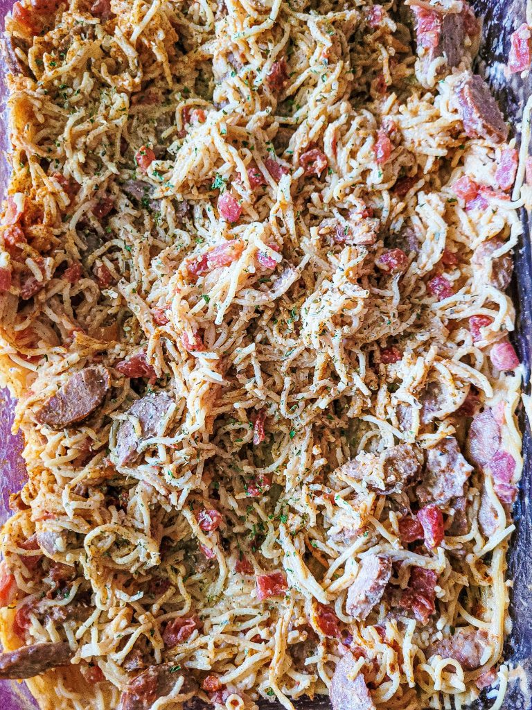 Spectacular Southern Baked Spaghetti